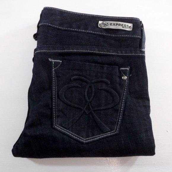 Express Women's Stella  Ultra Skinny Dark Wash Blue Denim Jeans Size 10R